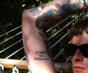 glasses, Tattoos, and american nightmare image