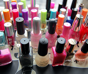 nails, nail polish, and girly image