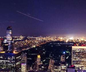 Central Park, new york, and night image