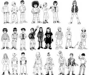 black, punk, and ramones image
