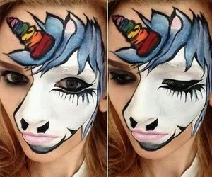 face, girl, and Halloween image