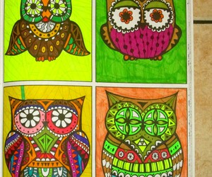 animals, coloring book, and art image