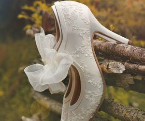 shoes, white, and wedding image