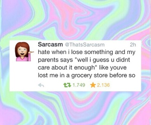 funny, sarcasm, and parents image
