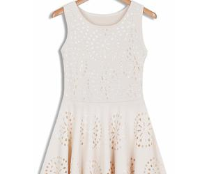 cream, crochet, and sleeveless image