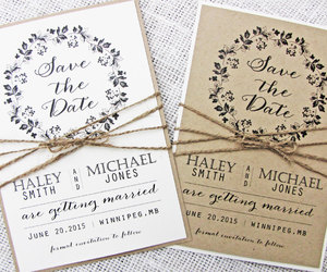 save the date, wedding invitations, and rustic wedding image