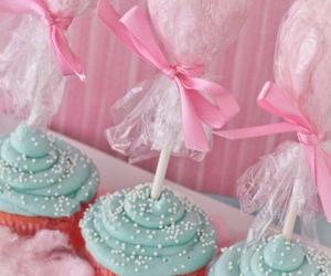pink, cake, and cupcake image