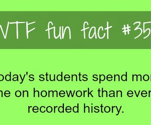 fact, homework, and fun image