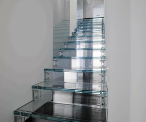 stairs, glass, and home image
