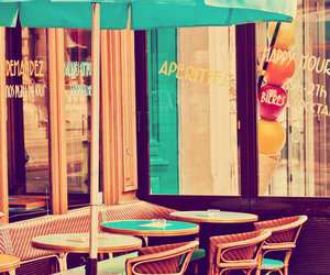 cafe, colorful, and paris image