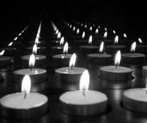 candles, dark, and light image