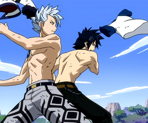 fairy tail, lyon, and gray image