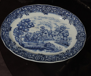 blue, white, and Ceramic image
