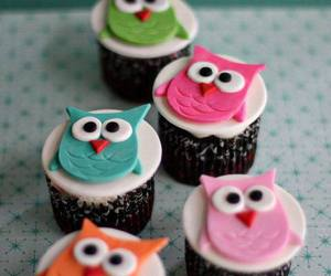 cupcake, owl, and sweet image