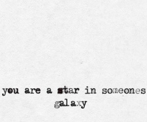 galaxy, stars, and quote image
