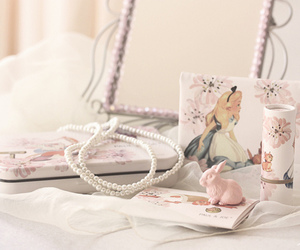 alice in wonderland, alice, and pearls image