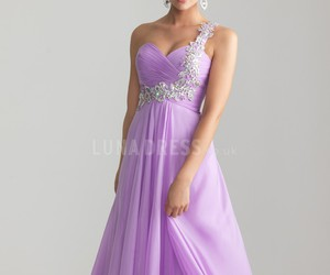 purple prom dress image