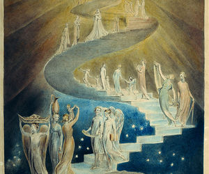 art, william blake, and jacob's ladder image