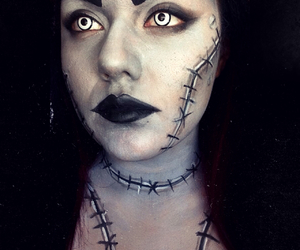 black and white, contacts, and facepaint image