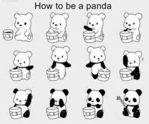 how to, panda, and cute image