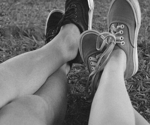 vans, love, and couple image