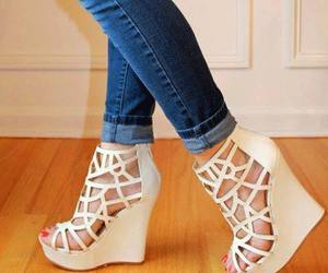 shoes, white, and cute image