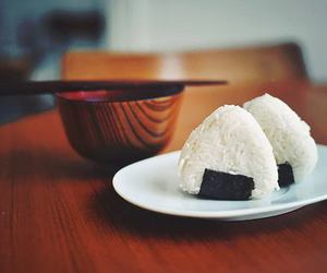 onigiri, food, and japan image
