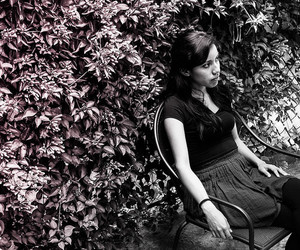 alone, garden, and black and white image