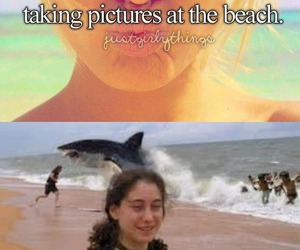 beach, funny, and girly image