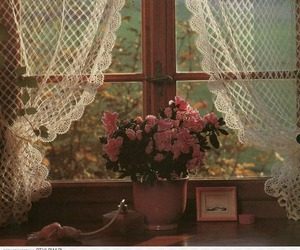 window and flowers image