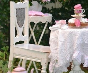 shabby chic and tea party image