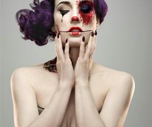 clown, make up, and rita image