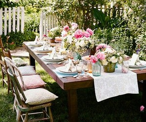 garden party and shabby chic image