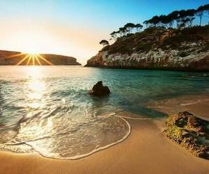 beach, paisaje, and summer image