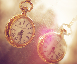 clock, watch, and pink image