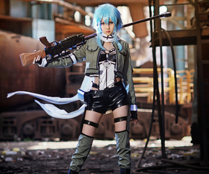 cosplay and sword art online image