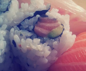 food, miam, and sushi image