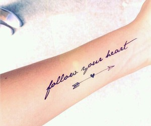 tattoo, heart, and arrow image