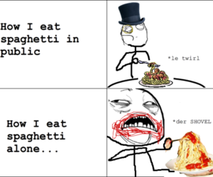 spaghetti, funny, and lol image