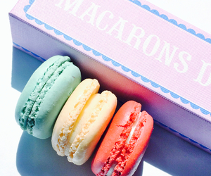 macarons, food, and sweet image