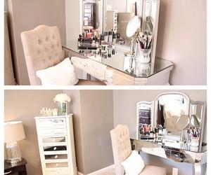 bedroom, makeup, and room image