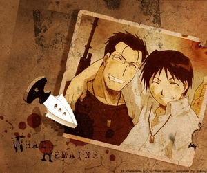 fullmetal alchemist, roy mustang, and friends image