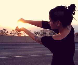 girl, Plugs, and sun image