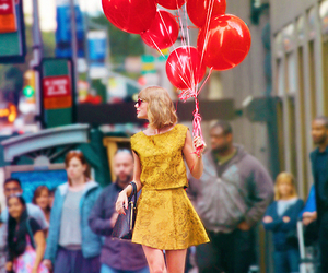 Taylor Swift, red, and balloons image