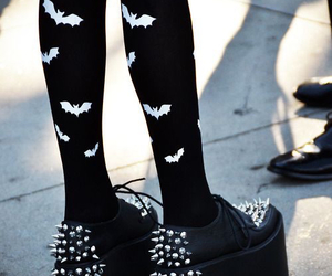 bats, spikes, and pastel goth image