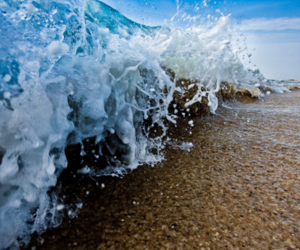 beach, waves, and sea image