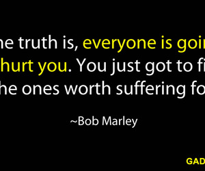bob marley, life, and quotes image
