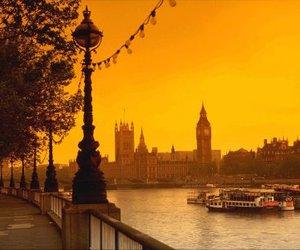london, Big Ben, and sunset image