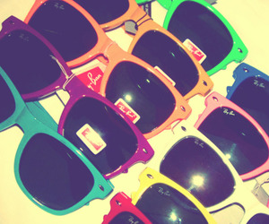 colours, fun, and raybans image
