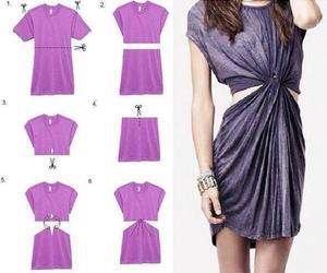 diy, dress, and shirt image